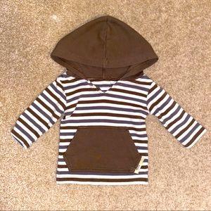 L'oved Baby brown stripe hoodie
